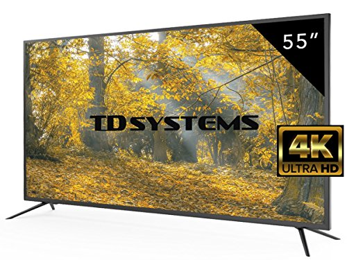 Televisores Led 55 Pulgadas UHD 4K TD Systems K55DLM8U. Resolución Ultra HD 4K, 3x HDMI, VGA, USB Reproductor y Grabador, Tv Led TDT HD DVB-T2