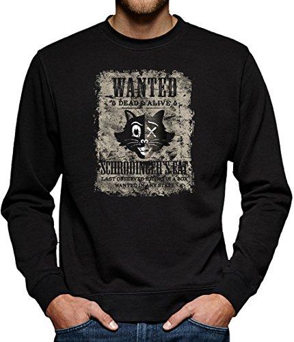 TLM Wanted Schroedingers Cat Sweatshirt Pullover Herren L Schwarz