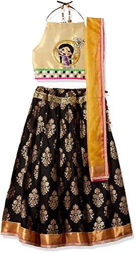 Chhota Bheem Girls' Lehenga Choli (GGAPP-CB557C_Black_5-6 yrs)