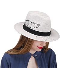 QianHaoQJu para Las Mujeres y Las Niñas Fedora Hat Sun Hat To Beach 2018  Summer Sombrero 9af69bfd000