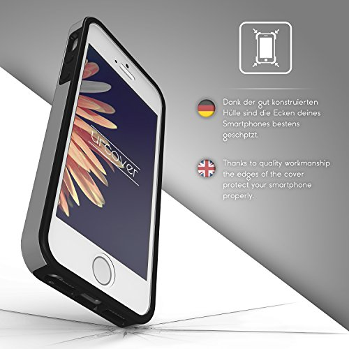 iPhone 6 Plus / 6s Plus Étui, Urcover Full Body Dual Apple iPhone 6 Plus / 6s Plus Coque 360 Degrés Layer TPU + PC Placage [Nouvelle Version] Housse Antichoc Argent Case Argent
