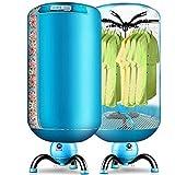 Ann French Clothes Dryer, Kann konstante Temperatur-Timer-Heizung Runde mit Isolierung Net Isolierung Tube Sleeve Double-Hanger für Haushalts-Wäscheständer, blau Sein