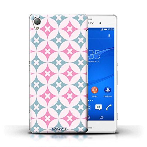 Kobalt® Imprimé Etui / Coque pour Sony Xperia Z3 / Violet / Vert conception / Série Kaléidoscope Rose/Bleue