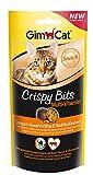 GimCat Crispy Bits – knuspriger Fleischsnack mit funktionalen Inhaltsstoffen – ohne Zuckerzusatz – Multi-Vitamin – 3 Beutel (3 x 40 g)