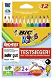 12 BIC Buntstifte Kids Evolution Triangle / farbsortiert