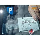 TikettakClip pour disque de stationnement et ticket & support de notes pour la maison (éviter les amendes de Stationnement)