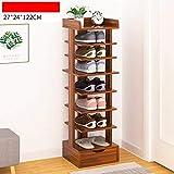XQY Haushalt Holzschuh Rack, Hohe Qualität Schuhschrank, Schrank Schuhe, Tür [Multilayer] Haushalt Schuhschrank Multifunktions Ecke für Eingang schmal, einfache Haustür Schuh Rack,1