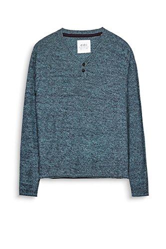 edc by ESPRIT Herren Pullover Blau (Turquoise 470)