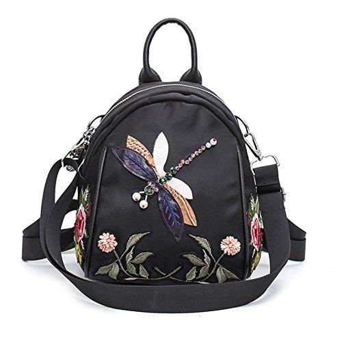 Damen Rucksack Elegant Vintage stickerei Rucksack Damentasche Damen Daypack Backpacks Casual Wasserdichte Reise