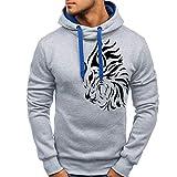 Männer Herbst Winter HJoodies Mann Full Sleeved Pullover Top Printed Sweatshirt Lose Outwear Bluse Mit Taschen Moonuy