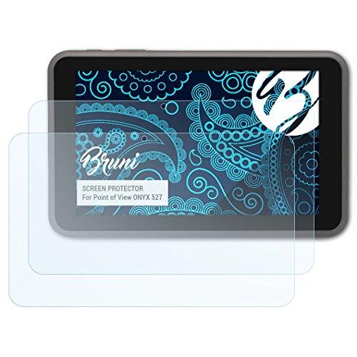 Bruni Schutzfolie kompatibel mit Point of View Onyx 527 Folie, glasklare Bildschirmschutzfolie (2X)