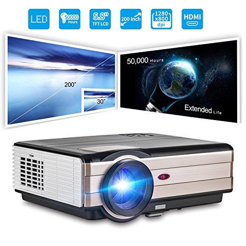 HD Projektor 3500 Lumen 200 Zoll Bildschirm Video Beamer unterstützt 1080p Heimkino LCD LED Videoprojektor HDMI VGA Audio USB für Laptop Smartphone PC PS4