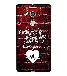 Fuson Designer Back Case Cover for Gionee Elife E8 (I wish you are always here theme)