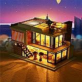 Prevently Puppenhaus Süß DIY House mit Puppenhaus Dollhouse DIY Kit Geschenk mit DIY Cottage Prinzessin Zimmer Puzzle Handgemachtes Spielzeug Geburtstag Geschen (Colour a)