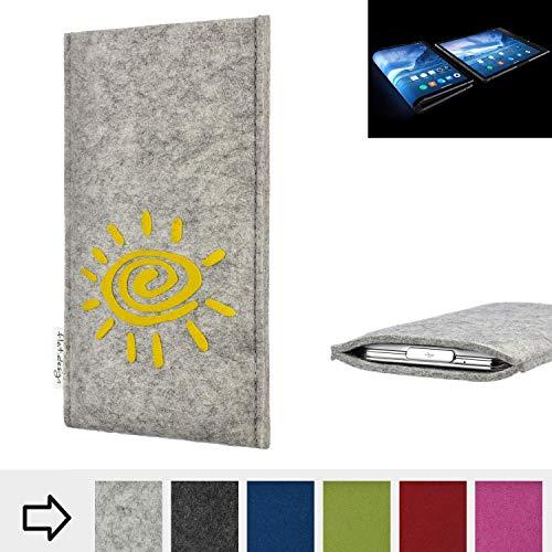 flat.design Handy Hülle für Royole FlexPai FARO mit Sonne Filz Schutz Tasche Etui Made in Germany fair