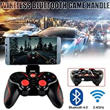 Beatie Mando de Juego Joystick para teléfono inalámbrico, we-8266 Bluetooth Wireless Gamepad para Android iOS Smartphone, para Pubg/Cuchillos out/Reglas de Supervivencia/Fortnite/Survivor/Royale