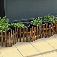YATAI Wooden Garden Fence Plants Flower Bed Edging Wooden Interlocking Panels Antiseptic For Partition Wall La