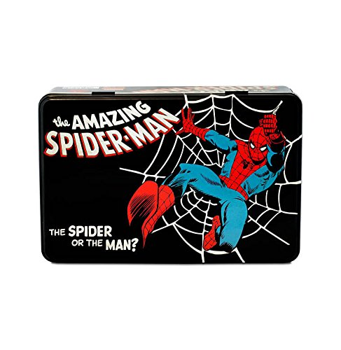 Caja Hombre Araña - Lata de metal Marvel Comics The Amazing Spider-Man - coloreado - Diseño original con licencia - Logoshirt
