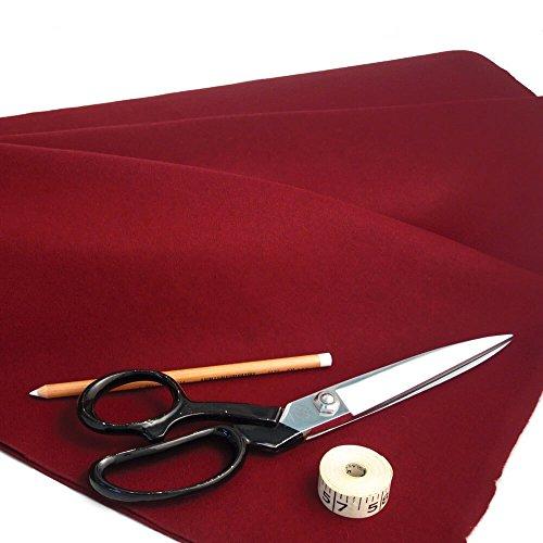 Simon Lucas Bridge Supplies Genuine Burgundy Baize 95% Merino Wool, 190cm wide,, per metre -