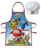 Delantal y gorro de chef Cocinero Super Wings-infantil Cusine 3/8años-344