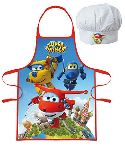 Delantal gorro chef Cocinero Super Wings-infantil