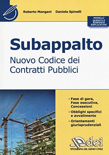scaricare ebook gratis Subappalto. Nuovo codice dei contratti pubblici PDF Epub
