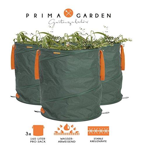 PRIMA GARDEN 3er-Set | Gartenabfallsack | Gartensack | Laubsack