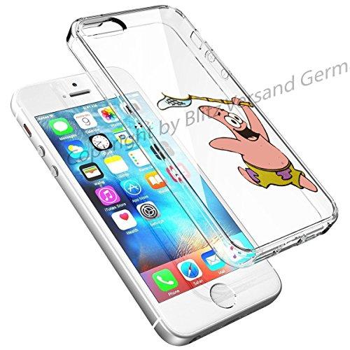 Blitz® DISNEY Schutz Hülle Transparent TPU Cartoon Comic Case iPhone 7 Super Mario Patrick STAR