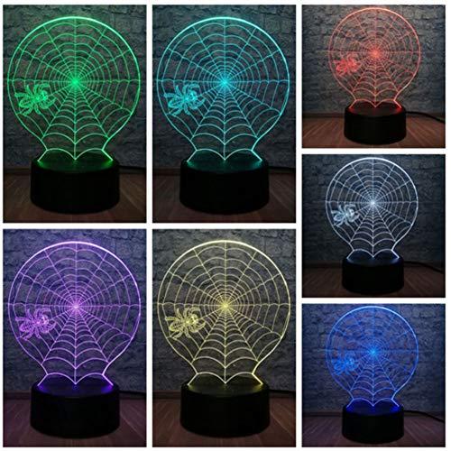 Kreative Tier Pot-bauchige Spinne 3D LED Lampe Halloween Scary Scene 7 Farbwechsel Dekoration Tisch Nachtlicht Atmosphäre