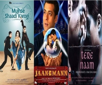 Mujhse Shaadi Karogi / Jaan-e-man / Tere Naam - 3 in One Dvd (100% Orginal Without Subtittle) by Akshay Kumar (Tere Naam)