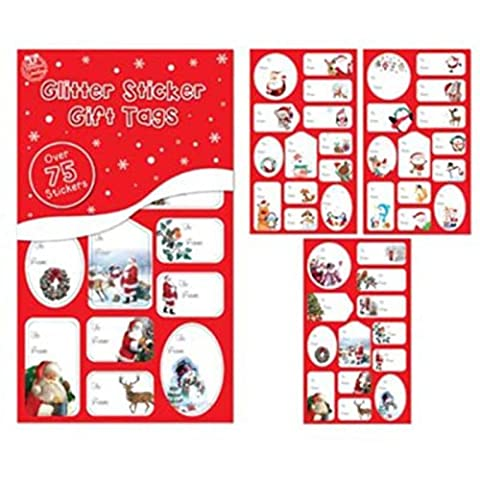 Over 75 Red and Green Foil Sticker