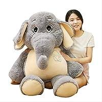 X&MM Giant Plush Elephant Toys, Grey Stuffed Big Ears Long Plush Elephant Animal Toys for Children Birthday Gift for Girls