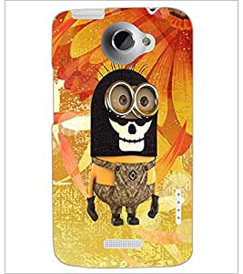 PrintDhaba Funny Image D-4159 Back Case Cover for HTC ONE X (Multi-Coloured)