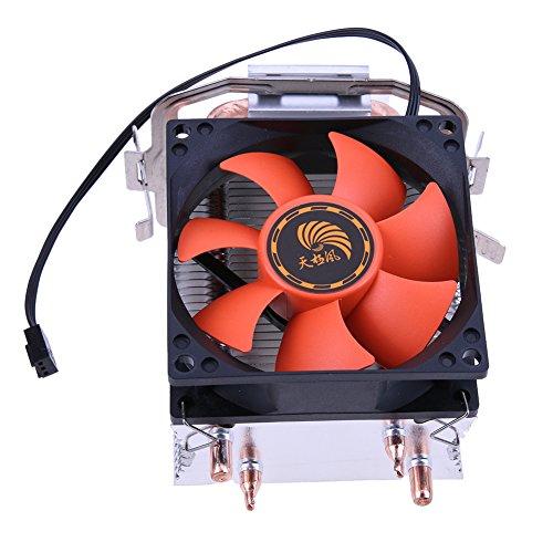 prettygood7 CPU-Kühler Double Heatpipe Kühler für Intel LGA775/1155/1156 AMD/AM2/AM2+