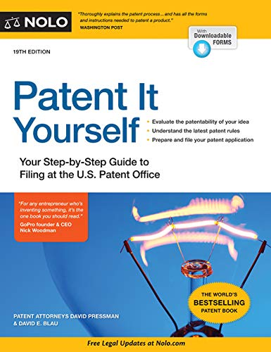 Patent It Yourself: Your Step-by-Step Guide to Filing at the U.S. Patent Office (English Edition) por David Pressman