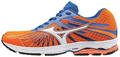MizunoWave Sayonara 4 - Zapatillas de Running hombre, Naranja (Clownfish/white/nautical Blue), 41