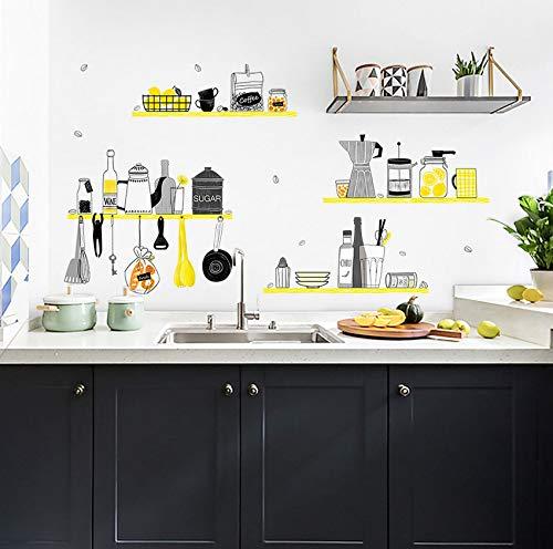 50 * 70 DIY ordentliche Küchen-Wand-Aufkleber-Ausgangsdekor-Küche-Dekorations-Abziehbild-Isolierung des Öl-entfernbaren Plakats Adesivo de parede