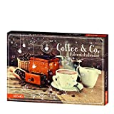 Sigro Coffee & Co Advent Calendar with Coffee Biscuits, Cappuccinos, Aroma Sticks, 50 x 4 x 35 cm, Brown, One Size