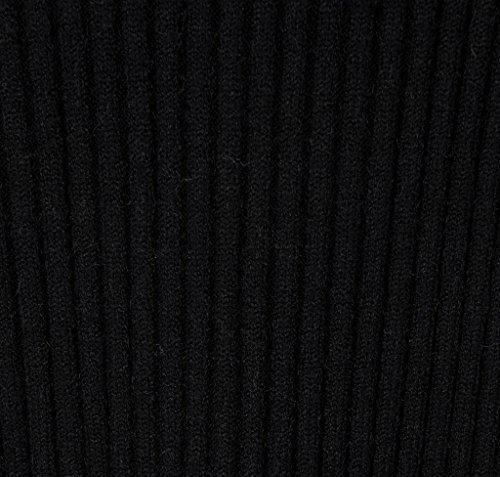 Vogueearth Donna's Lungo Manica Knit Slim-Fit Turtleneck Lungo Pullover Maglieria Sweater Nero