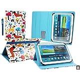 Emartbuy Airis OnePad 1100QN Quad Core 10.1 Pulgadas Tableta PC Universal Serie ( 10 - 11 Pulgadas ) Multicolor Cachorros Ángulo Múltiples Ejecutivo Folio Funda Carcasa con Card Slots + Lápiz Óptico