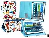 Emartbuy® Denver TIQ-11003 10.6 Zoll Tablet Universalbereich (10-11 Zoll) Multifarbig Welpen Multi Angle Exekutiv Folio Mappen Kasten Abdeckung mit Kartensteckplätze + Eingabestift