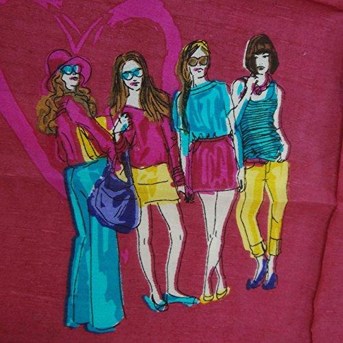"""Grande écharpe Femmes Pure Silk Stole Summer Écharpes 40 """"x 40"""" pouces Magenta"""