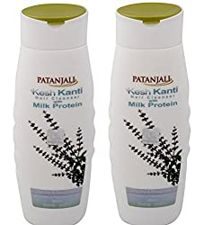 Patanjali Kesh Kanti Milk Protein Hair Cleanser Shampoo, 200ml (Pack of 2)