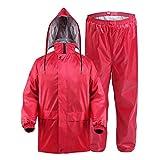 YUJIE Regenmantel Regenanzug Erwachsenen Doppel Dicken Poncho Wasserdicht Im Freien Reiten Regenmantel Rot (größe : M)