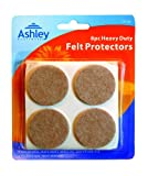 8 Pack Heavy Duty Felt Protectors For Use on Sofas, Chairs, Stools, Tables, etc. 38 mm Diameter by Ashley (Packaging May Vary)