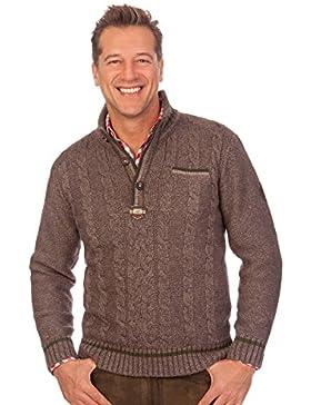 Trachten Herren Pullover - DORFEN - natur, braun