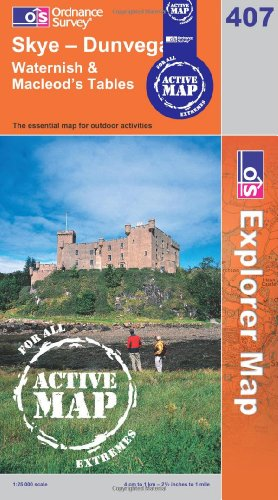 Skye - Dunvegan (OS Explorer Map Active)