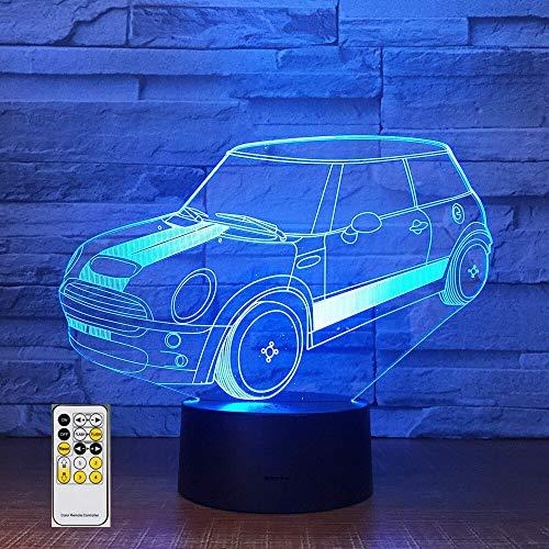 Fernbedienung auto 3d lampe acryl stereo illusion led tisch nachttischlampe urlaub geburtstag kinder jungen geschenk han-7808 (Urlaub Kostüm Firma)