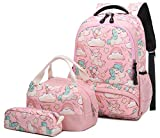 Mochila Escolar Unicornio Niña Infantil Adolescentes Sets de Mochila Backpack Casual...