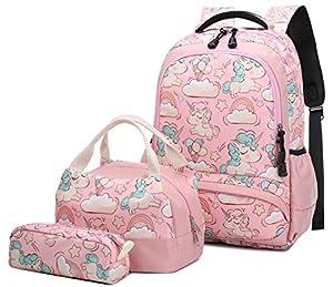 Mochila Escolar Unicornio Niña Infantil
